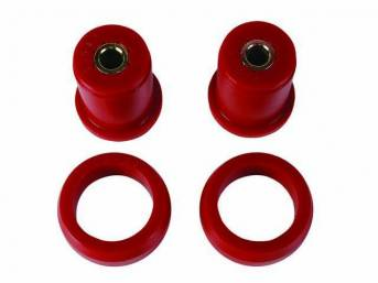 Bushing Kit, Axle Housing, Urethane, Red, Soft Compound (Street Use), Does Not Incl Outer Shells, Repro