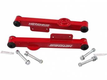 Control Arm Kit, Rear Lower, Box Steel, Red,