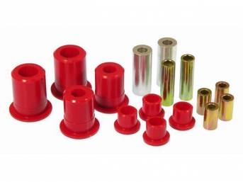 Bushing Kit, Rear Control Arms, Urethane, Red, Does Not Incl Shells (Re-Use Originals), Repro
