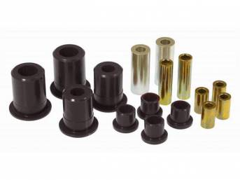 Bushing Kit, Rear Control Arms, Urethane, Black, Does Not Incl Shells (Re-Use Originals), Repro