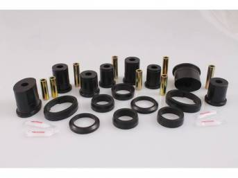 Bushing Kit, Rear Upper And Lower Control Arm, Urethane, Black, Incl Oval Front And Round Rear Bushings, Does Not Incl Shells (Re-Use Originals), Repro