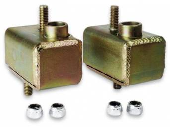 Solid, Motor Mounts, Moroso, Zinc And Yellow Chromate Plating, Incl Rh And Lh Side Mounts W/ Grade 8 Studs, Mounting Hardware