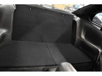 Seat Delete, Rear, Shrader Performance, Black Carpet, Abs