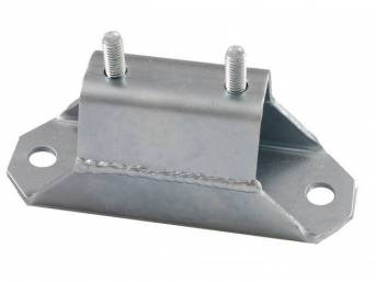 Solid, Transmission Mount, Moroso, Zinc Plated, This Unit Is Designed To Be Used On High Horsepower Cars And Is Not Intended For Street Or Daily Driving Use, Repro