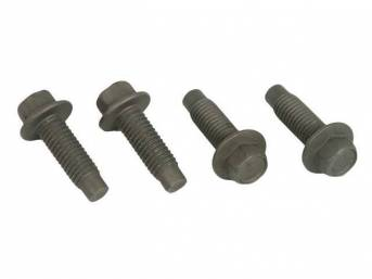 Mounting Kit, Front Seat Track To Seat Frame, Incl (4) M8 Hex Washer Head Bolts, Repro