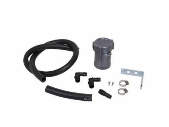 Separator / Catch Can Kit, Air Oil, Bbk Performance, Incl Catch Can Kit, Mounting Bracket, Rubber Hose, Designed To Plum Into The Pcv System And Reduce Oil Into The Intake Track, This Is Designed As A Universal Style Kit