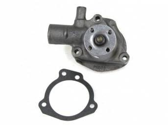 Water Pump, New, Original, Incl E4zz-8507-B Gasket, Prior Part Number E3bz-8501-A, E4bz-8501-A