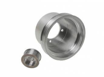 Pulley Kit, Bbk Performance Underdrive, Polished Aluminum, (2) Piece Set, Designed To Work W/ Stock Damper Assemblies, Repro