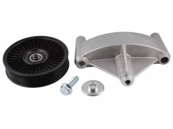 Bracket, Smog Pump Eliminator, Tuff Stuff, Aluminum, Incl Bracket And Pulley, Designed To Replace Your Factory Smog Pump And Increase Horsepower