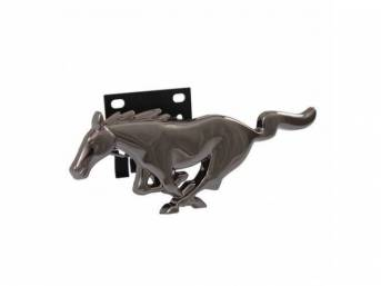 Ornament, Grille Panel, *Running Horse*, Black Chrome, Designed