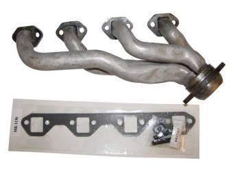 Header, Exhaust, Rh, Tubular Steel, Repro E6zz-9430-C