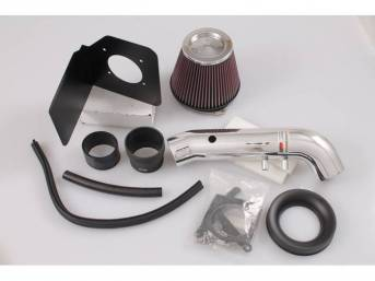 Air Filter Intake Kit, High Performance By K And N, Typhoon, Chrome Finish, Designed To Replace Complete Factory Air Intake System From Filter To Throttle Body