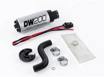 Pump, Fuel, Deatschwerks, 255 Lph Hi Pressure Style, Dw200, Incl Pump And Install Kit, Features Stock Inlet And Outlet Size, Fits In Stock Hanger Assy, Designed To Work With Ethanol Style Fuels