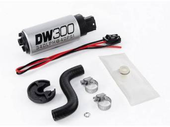 Pump, Fuel, Deatschwerks, 340 Lph Hi Pressure Style, Dw300, Incl Pump And Install Kit, Features Stock Inlet And Outlet Size, Fits In Stock Hanger Assy, Designed To Work With Ethanol Style Fuels