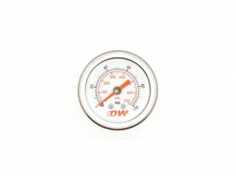 Gauge, Mechanical Fuel Pressure, Deatschwerks, 0-100 Psi Style, White Face, 1 1/2 Inch Diameter, 1/8 Inch Npt Fitting, Designed To Work With Aftermarket Style Fuel Pressure Regulators That Use A 1/8 Inch Npt Fitting Size