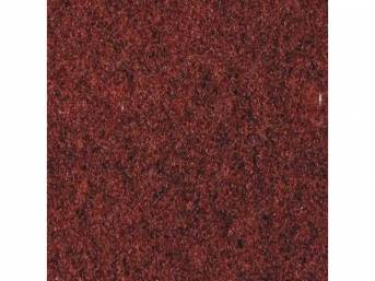 Carpet, Standard Cut Pile Nylon, Molded, Vaquero, Incl Complete Passenger Area Only, Jute Padding, Correct Heal Pad, Does Not Incl Rear Hatchback Carpet, Repro