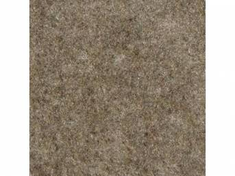 Carpet, Standard Cut Pile Nylon, Molded, Light Pewter, Incl Complete Passenger Area Only, Jute Padding, Correct Heal Pad, Does Not Incl Rear Hatchback Carpet, Repro