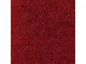 Carpet, Standard Cut Pile Nylon, Molded, Medium Red, Incl Complete Passenger Area Only, Jute Padding, Correct Heal Pad, Does Not Incl Rear Hatchback Carpet, Repro