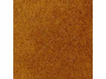 Carpet, Standard Cut Pile Nylon, Molded, Chamois / Caramel, Incl Complete Passenger Area Only, Jute Padding, Correct Heal Pad, Does Not Incl Rear Hatchback Carpet, Repro