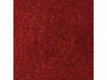 Carpet, Standard Cut Pile Nylon, Molded, Scarlet Red, Incl Complete Passenger Area Only, Jute Padding, Correct Heal Pad, Does Not Incl Rear Hatchback Carpet, Repro