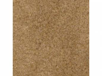 Carpet, Standard Cut Pile Nylon, Molded, Sand Beige, Incl Complete Passenger Area Only, Jute Padding, Correct Heal Pad, Does Not Incl Rear Hatchback Carpet, Repro