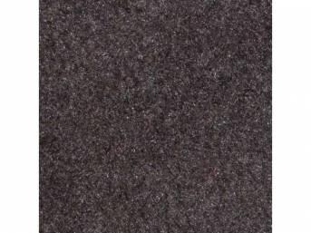 Carpet, Standard Cut Pile Nylon, Molded, Charcoal Gray,