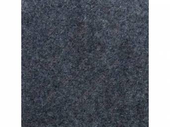 Carpet, Standard Cut Pile Nylon, Molded, Wedgewood Blue,