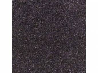 Carpet, Standard Cut Pile Nylon, Molded, Black, Incl Complete Passenger Area Only, Jute Padding, Correct Heal Pad, Does Not Incl Rear Hatchback Carpet, Repro