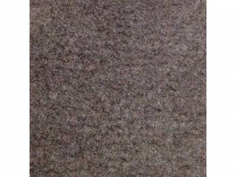Carpet, Standard Cut Pile Nylon, Molded, Smoke Gray, Incl Complete Passenger Area Only, Jute Padding, Correct Heal Pad, Does Not Incl Rear Hatchback Carpet, Repro