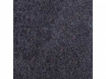 Carpet, Standard Cut Pile Nylon, Molded, Academy / Crystal Blue, Incl Complete Passenger Area Only, Jute Padding, Correct Heal Pad, Does Not Incl Rear Hatchback Carpet, Repro