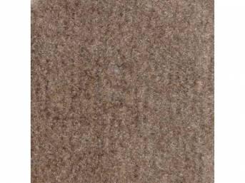 Carpet, Standard Cut Pile Nylon, Molded, Titanium Gray, Incl Complete Passenger Area Only, Jute Padding, Correct Heal Pad, Does Not Incl Rear Hatchback Carpet, Repro