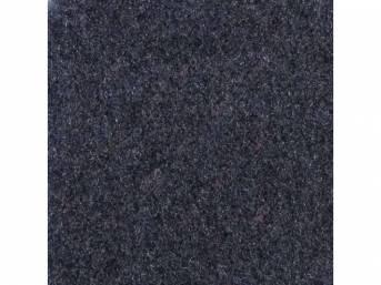 Carpet, Standard Cut Pile Nylon, Molded, Regatta / Lapis Blue, Incl Complete Passenger Area Only, Jute Padding, Correct Heal Pad, Does Not Incl Rear Hatchback Carpet, Repro