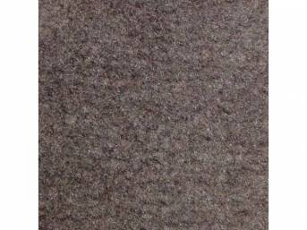 Carpet, Deluxe Cut Pile Nylon, Mass Back Molded, Smoke Gray, Incl Complete Passenger Area Only, Jute Padding, Correct Heal Pad, Does Not Incl Rear Hatchback Carpet, Repro