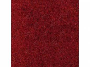 Carpet Standard Cut Pile Nylon Molded Bright Red