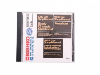 Shop Manual On Cd, 1983 Mustang, Note That Shop Manuals May Incl Other Ford, Lincoln And Mercury Car Models