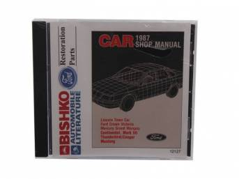 Shop Manual On Cd, 1987 Mustang, Note That