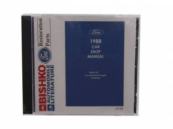 Shop Manual On Cd, 1988 Mustang, Note That