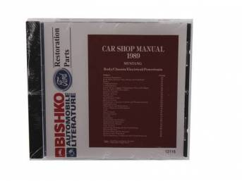 Shop Manual On Cd, 1989 Mustang, Note That