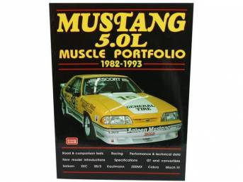 Book, Mustang 5.0l Muscle Portfolio 1982-1993, By R.m.