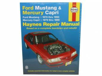 Book, Haynes Workshop Manual 1979-1993 Ford Mustang And