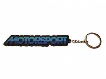 Black with Tricolor Blue Logo MOTORSPORT Key Chain