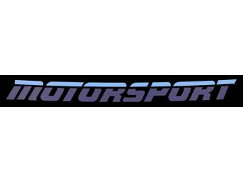 Two-Tone Blue Aero Style MOTORSPORT Windshield Banner Decal