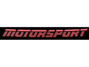 Two-Tone Red Aero Style MOTORSPORT Windshield Banner Decal