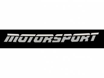 Two-Tone Gray Aero Style MOTORSPORT Windshield Banner Decal