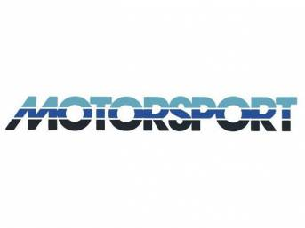 Tricolor Blue Early Style MOTORSPORT Windshield Banner Decal