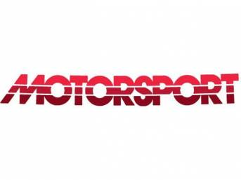 Tricolor Red Early Style MOTORSPORT Windshield Banner Decal