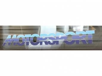 Tricolor Blue MOTORSPORT Quarter Window Decal