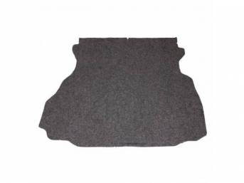 Trunk Mat, Carpet, Heather Gray / Silver Gray, Incl Jute Padding And Board, Repro