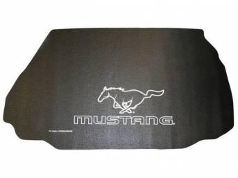 Trunk Mat, Fender Gripper, Black, Features Mustang Script