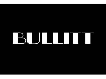 Trunk Mat, Fender Gripper, Black, Features Bullitt Script